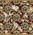 floral greek 3d seamless pattern vintage vector image vector image
