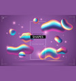 fluid background liquid abstract metallic drops vector image