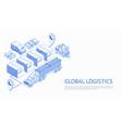 global logistics design vector image vector image