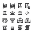 History Icons vector image