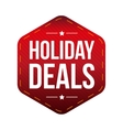 Holiday Deals patch vector image vector image