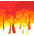 hot template falling hot drops splash fluid vector image vector image