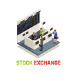 investing funds stocks isometric composition vector image