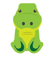 isolated stuffed crocodile toy vector image vector image