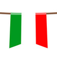 italy national flags hangs on ropes on white vector image vector image