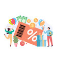 loyalty credit card program big sale discount vector image