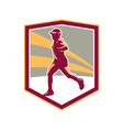 Marathon Runner Shield Retro vector image vector image