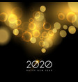 new year 2020 gold party light greeting card vector image