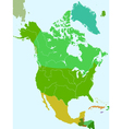 North America countries vector image