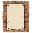 Old paper on a wooden wall vector image vector image