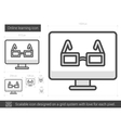 Online learning line icon vector image vector image
