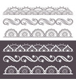 ornamental seamless borders set vector image