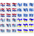 Paraguay Somalia Tuvalu Butyatia Set of 36 flags vector image vector image
