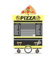 pizza cart street food shop vector image