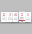 pos terminal mobile payment onboarding vector image vector image