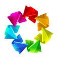 rainbow arrows vector image