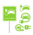 road sign template of car charging station with a vector image