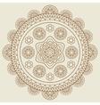 Round hand drawn boho mandala vector image vector image