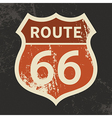 Route 66 sign vector image vector image