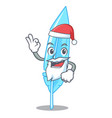 santa feather mascot cartoon style vector image vector image