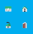 set of simple real icons vector image vector image