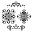 set ornamental element for design vector image