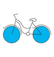 silhouette color section of tourist bike icon vector image vector image