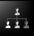 social media marketing sign gray 3d vector image vector image