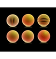 striped orange ball logo vector image vector image