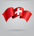 Swiss waving Flag vector image