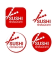 symbol of sushi restaurant vector image vector image