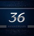thirty six years anniversary celebration logotype vector image vector image