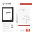 tree business logo tab app diary pvc employee vector image vector image