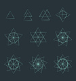 triangle contour various sacred geometry set vector image vector image