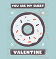 valentines day flyer template you are me sweet vector image vector image