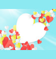 valentines day with paper elements in shape vector image vector image