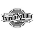 vintage tattoo studio emblem 3 for white vector image vector image