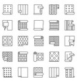wallpaper outline icons set paperhangings vector image