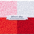 Womens Day Set of the Seamless Patterns vector image vector image