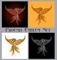 phoenix emblem set vector image