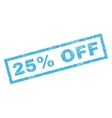 25 Percent Off Rubber Stamp vector image vector image