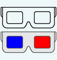 3-D Glasses symbol vector image
