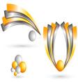 3d template creative design vector image vector image