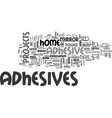 adhesives provide nail power without the nails vector image vector image