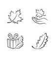 autumn outline icons vector image