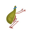 avocado doing squats funny exotic fruit athlete vector image vector image