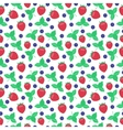berries Strawberry seamless patterns vector image