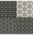 Black and white geometric ornaments set vector image