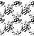 black swan seamless repeat pattern vector image vector image