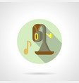 brass music flat round icon vector image vector image